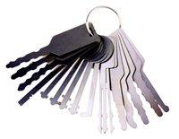 araba için set çilingir aracı toptan satış-Araba Anahtarı Modelleme Çilingir Araçları Çalışmak Araba Jigglers kanca pimleri Locker Master Anahtar araba Açacağı BK137 Pick için Pick Set