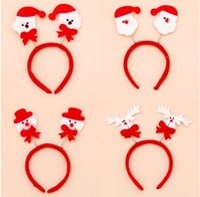 Wholesale Reindeer Head - Christmas Headbands Hair Bands Santa Claus Snowman Reindeer Bear Head Bands Christmas Party Ornaments Hairbands for Kids Adults
