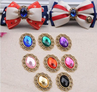 Wholesale Bling Flower Flatback - 1*1.1inch 50pcs Bling Pearl Buttons Flatback Retro Acrylic FLower disc DIY Bowknot Accessory PB-11for clothing hair bow DIY hair accessory