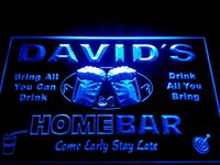Wholesale Bar Restaurant Names - DZ001-b Name Personalized Home Bar Beer Family Name Neon Light Sign