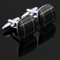 black suit apparel - 2016 Fashion Black Silver Plated Cufflinks For Men Classic Square Men s Cufflinks Popular Apparel Formal Suits Cuff Links For Wedding X