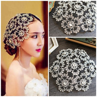 Wholesale Designer Bridal Jewelry - Designer Wedding Bridal Headpiece Crystal Rhinestone Flower Hair Accessories Tiara Headband Crown Queen Princess Hair Jewelry Prom Favor