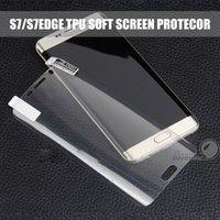 klarer film großhandel-Für Samsung Galaxy Note 9 8 S9 Plus S7 Edge Volle Abdeckung Klar Weiche TPU-Schutzfolie Filmabdeckung Gebogene Displayschutzfolie