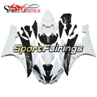 Wholesale Carbon Injection - Injection ABS Fairings For Yamaha YZF600 YZF R6 06 07 2006 2007 Motorcycle Fairing Kit Motorbike Cowling White Matte Fake Carbon Fiber