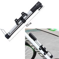 Wholesale Portable Air Pump For Bikes - Wholesale-Hot Sale Alloy Bicycle Pumps Mini Portable Aluminum Alloy Bike Tire Pumps Cycling Air pumps for Bicycle Accessories Basketball