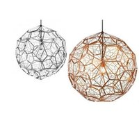 ingrosso lampada web-D40CM Geometry Etch Web Lampada a sospensione a forma di diamante