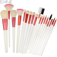 Wholesale Hair Brush Cleaner Pink - Ismine Clean Stock Cheap Brushes 18pcs Makeup Brush Set Competitive Price Fashion Style Cosmetics +Pink Case