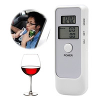 Wholesale Park Clock - AD06 Drive Safety Dual LCD Digital Breath Alcohol Tester with Clock Backlight Breathalyzer Driving Essentials Parking Detector Gadget