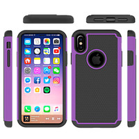 Wholesale Iphone Phone Sport Shell - 3 In 1 Football Pattern Phone Case For Iphone 8 Robot Waterproof PC+Silicone Protective Shell Fashion Sports Style back Cover Shell