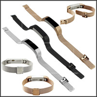 Wholesale Mesh Watches - Fitbit Alta Milanese Loop Watch Band Stainless Steel Mesh Strap For Fitbit Alta Tracker Smart Fitness Watch VS DZ09 U8 Silicone Strap