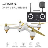actualizar x5c camara al por mayor-Hubsan RC Drone original con cámara 1080P HD GPS / Sígueme en modo Quadcopter Toys 5.8G FPV 10CH RC sin cabeza Drones de helicóptero RC HOT + B