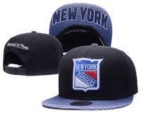 новые шотландские рейнджеры оптовых-Новый мужской черный цвет New York Rangers Snapback Hats Спортивные хоккейные регулируемые бейсболки Летняя шапка на открытом воздухе
