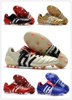 Wholesale Hot Mens Winter Boots - Original High Quality Predator Mania Champagne FG mens Football Boots 2017 Champagne FG Soccer Shoes cheap Soccer Cleats Black Gold red Hot