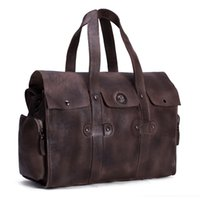 Wholesale Travel Hand Bag For Men - ROCKCOW Large Waterproof Travel Bag for Women Hand 2016 Vintage Mens Leather Travel Duffle Bags Leather Weekend Bag Men 9035