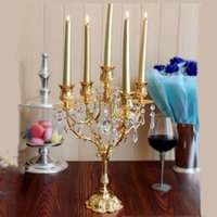 Wholesale Candelabra Style Wedding - 40 CM Height European Style Candelabra Romantic Candlelight Dinner Candlestick Lights Candle Holder Home And Wedding Table Decor