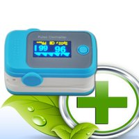 Wholesale PO10004A8 with Pulse Sound Audio Alarm OLED Fingertip oxymeter spo2 PR monitor Blood Oxygen Pulse Oximeter Freeshipping blue