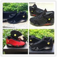 Wholesale Pink Shoot - AIR Retro 14 XIV Oxidized Green Indiglo Thunder Playoffs Black Toe Red Suede 14s Men Basketball Shoes Sneaker Last Shot Sport Shoes