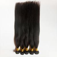 jungfrau indisches haar dhgate großhandel-Unverarbeitete brasilianische indische Jungfrau-Haareinschlagverlängerung 8-26inch natürliche Farbe 1pc peruanische russische remy Menschenhaar-Webart DHgate