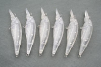 Wholesale Hard Lure Bodies - PCS20 UNPAINTED FISHING LURES JOINTED CRANKBAIT BODIES 11.7g
