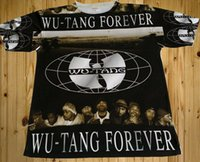 Wholesale Forever Tee - Mens Short Sleeve Tee with Wu-Tang Forever Logo 3D Printed Hip Hop T shirts Custom Casual tshirts Black Color streetwear
