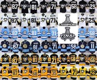Wholesale Final Cup - 2017 Stanley Cup Final CHAMPIONS patch-Pittsburgh Penguins Kris Letang Phil Kessel Sidney Crosby Marc-Andre Fleury Evgeni Malkin Jerseys