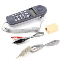 ingrosso tester telefonici-CHINO-E C019 Telefono Linea telefonica Controllo Cavo di Rete Tester Butt Test Tester Lineman Tool Cable Check Set Macchina Wired All'ingrosso