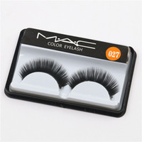 Wholesale Eyelashes Extension Color - Brand False Eyelashes Handmade Natural Long Curl Thick Soft Fake Eye Lash Extensions Flair Black Color Eyelashes Makeup Terrier Lashes #027
