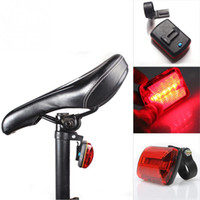 Wholesale Bicycle Led Back Lights - New Arrival Hot Bike Bicycle 5 LED Rear Tail Light Bike Bicycle Red Back Light Safety Warning Flashing Lights