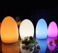 Wholesale Rechargeable Bar Table Lamp - Rechargeable Colorful LED Egg Bar Table Lamp Break-resistant Rechargeable LED Glowing Lighted Egg Night Light for Christmas Club Bars Light