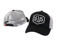 Wholesale Hiphop Hats Girls - Deus Ex Machina Baylands Trucker Snapback Men Women Bboy Girls Mesh Sports Hat Hiphop God Pray Ovo Cap Black