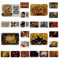Wholesale Outdoor Floor Mats - PVC Halloween Pumpkin Non-Slip Indoor Outdoor Floor Mat Doormats For Home Decor Bath Room Kitchen Mats 30 design KKA3016