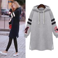 Wholesale womens hoodie - Hot 2016 Winter Autumn Fashion Womens Long Sleeve Hooded Jacket Loose Warm Sport Hoodies Sweatshirt Plus Size Femininas l-5xl