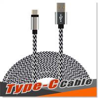 cabo usb reversível venda por atacado-Tipo c cabo de nylon trançado usb 3.1 para usb 2.0 um macho cabo de carregamento de dados conector do carregador reversível para samsung s8 s7 moto lg g5