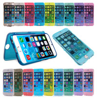 Wholesale Iphone Wrap Red - Ultra Thin 360 Degree Full Body Protective Transparent Clear Soft Gel TPU Case Wrap Up Flip Cover for Iphone 6 6s plus 7 7plus Samsung S6 S7