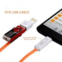 Wholesale Otg Lead - 2016 Newest LED Micro USB OTG Data Line Charger Cable Adapter For Android Smart Phones
