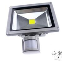 ingrosso proiettore del sensore di luce-AC 85-265V 10 W 20 W 30 W 50 W 70 W 100 W PIR LED Proiettore LED per esterni Lampada luce di inondazione con sensore Motion Detective spot