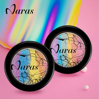 Wholesale Cheap Styling Tools - Naras DIY Rainbow Highlights Eye shadow Palette Rainbow Blush 2 Styles Optional Cheap Makeup Tools Free Shipping Cloning Item