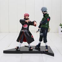 Wholesale Model Figure Base Set - 2pcs set 16-18cm Anime Naruto figure Hatake Kakashi VS Sasori PVC Action Figures Model Toys with Base 16-18cm