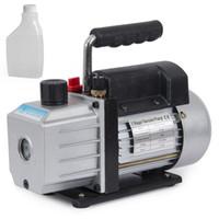 Wholesale Vacuum Pump Oil - Single Stage 4CFM 1 3HP Rotary Vane Deep Vacuum Pump HVAC AC Air tool R134 R410a