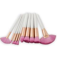 Wholesale fan shaped resale online - New high end Make Up Brush Fan Shaped Brushes Bottom Eye Shadow Brush Blush Makeup Tool Black Makeup Brush Maquillage