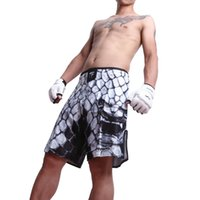 Wholesale Purple Mma Shorts - Mens MMA Shorts MMA Fight trunks Martial Arts Seen Pretorian Boxing Sanda Muay Thai Shorts MMA Black Yellow Short Trunks