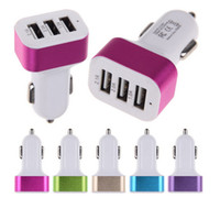 Wholesale Usb Power Adapter Uk - 3-Port USB Car Charger Universal Cigarette 3.1Amp Car Power Adapter For iPhone iPad iPod Samsung Galaxy Motorola Droid Nokia Huawei