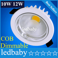 COB LED Downlight 10w 12w Epistar LED Spotlight Regulável recesso para baixo luz de teto Espanha LED Estilo Lamp + Motorista
