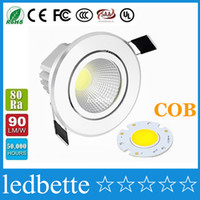Wholesale Recessed Power - Dimmable 9W 12W 15W 18W 21W Led Downlights 120 Angle High Bright COB Warm Cool White Led Recessed Down Lights + Power Drivers