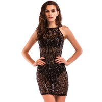 Vestito da cocktail sottile in vita senza maniche in tacco floreale nero placcato nero del bodycon Dress LJG0732