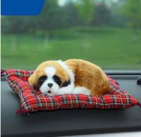 Wholesale Dog Air Freshener - Animal Air Freshener Car Air Freshener Simulation Dog Cat Solid Charcoal Bag Car Accessories Christmas ornaments Sleeping dog toy KKA3099