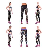 Women sports wear manufacturers - Outside wearing sweatpants digital printing Stretch pants feet pants thin printing skeleton female trousers Sports Pants manufacturer sale