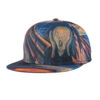 Wholesale 3d Swag Hat - Hip Hop Cap Summer Swag Skull 3D Printed Bone Caps Snapback Hat Adjustable Baseball Hats for Men Women Sports Cap