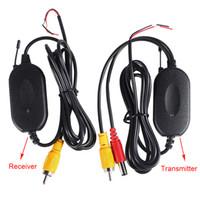 cámaras de estacionamiento inalámbricas para autos. al por mayor-2.4G Adaptador de módulo inalámbrico Transmisor inalámbrico y receptor para DVD Cámara de visión trasera Estacionamiento de automóviles Cámara de respaldo