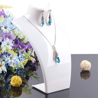 Wholesale Retail Necklace Display - 2014 New and Hot sale White color 20*13.5cm Mannequin Necklace Jewelry Pendant Display Stand Holder Show Decorate Retail